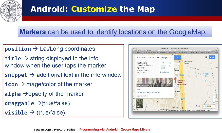 Programming with Android Geolocalization and Google Map Services