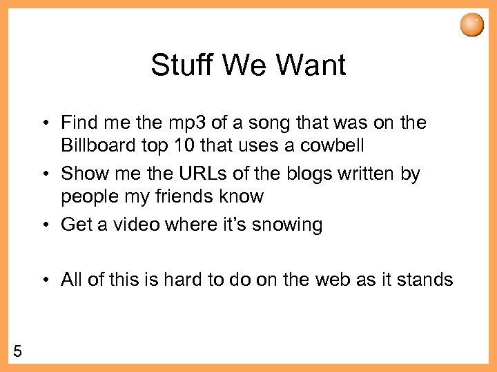 Stuff We Want • Find me the mp 3 of a song that was