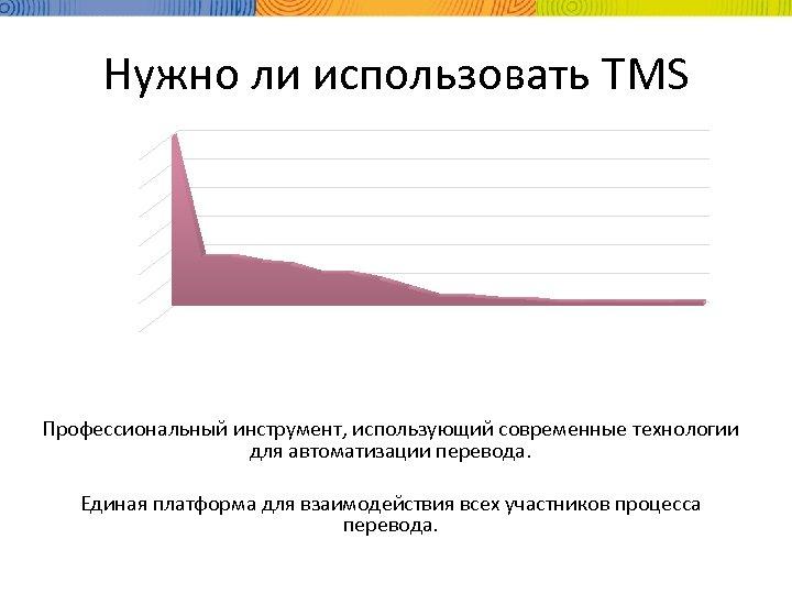 Нужно ли использовать TMS Профессиональный инструмент, использующий современные технологии для автоматизации перевода. Единая платформа