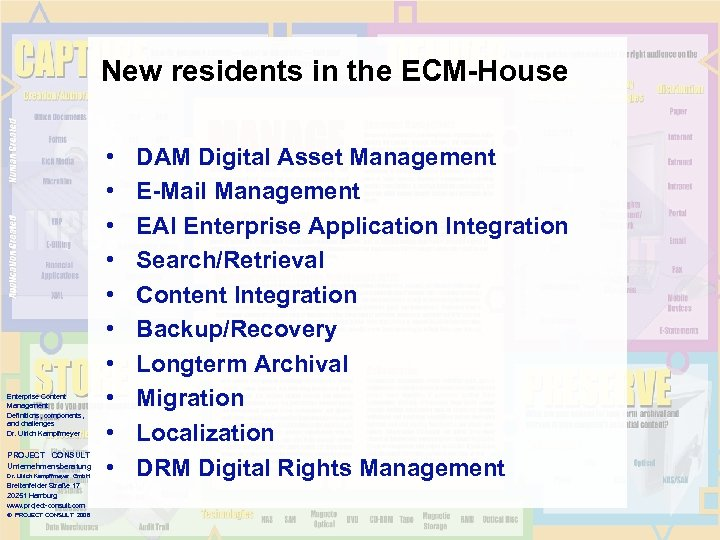 New residents in the ECM-House Enterprise Content Management Definitions, components, and challenges Dr. Ulrich