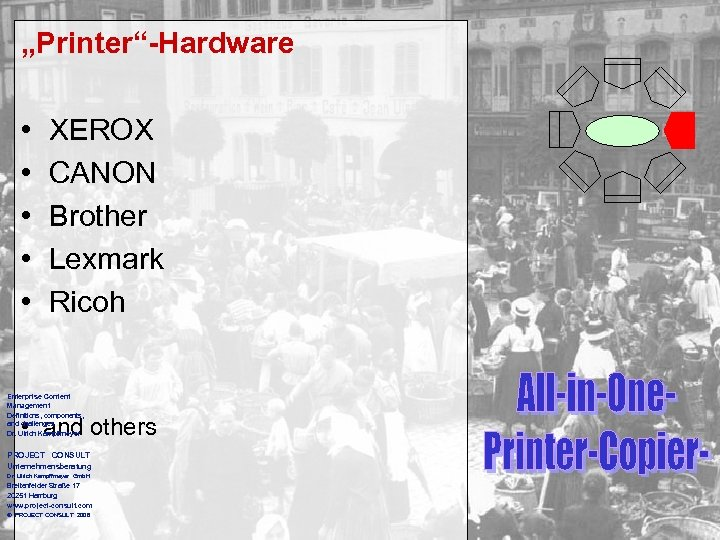 """""""Printer""""-Hardware • • • XEROX CANON Brother Lexmark Ricoh Enterprise Content Management Definitions, components,"""