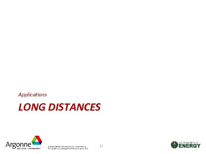 Applications LONG DISTANCES 21