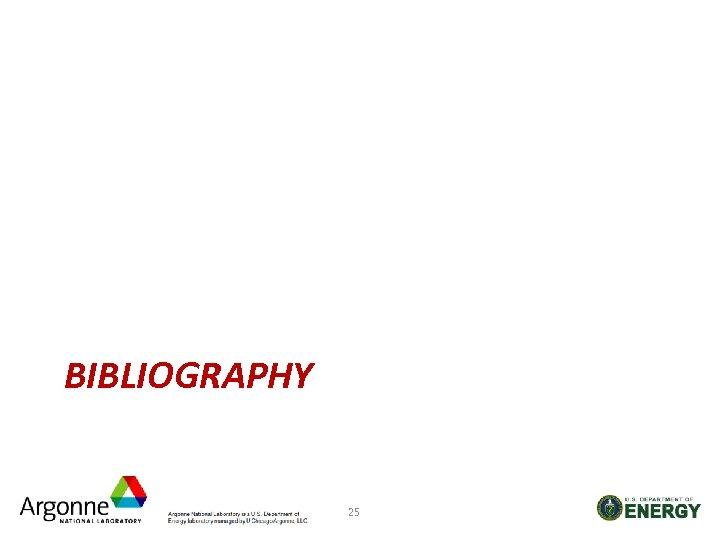 BIBLIOGRAPHY 25