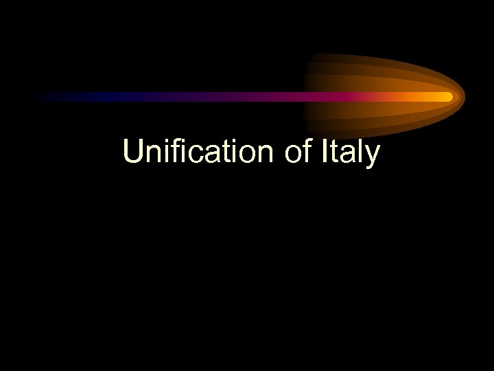 Unification of Italy