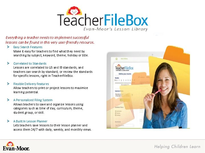Everything a teacher needs to implement successful lessons can be found in this very