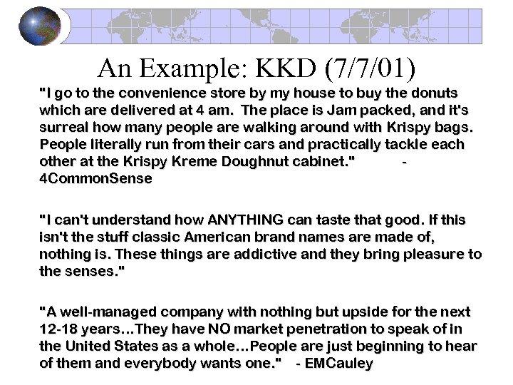 An Example: KKD (7/7/01)