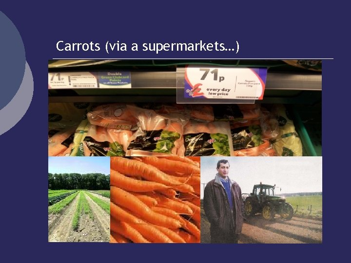 Carrots (via a supermarkets…)