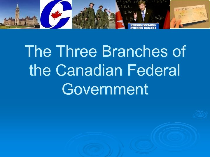 The Three Branches of the Canadian Federal Government