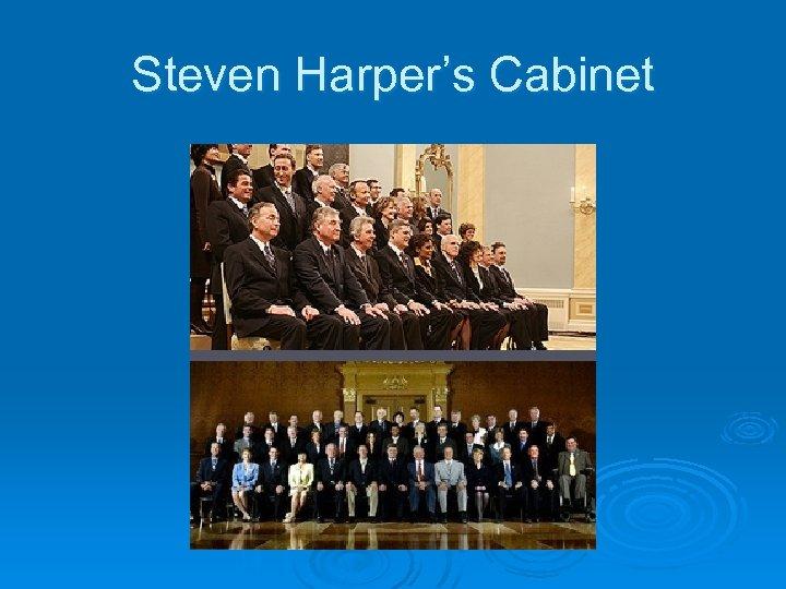 Steven Harper's Cabinet