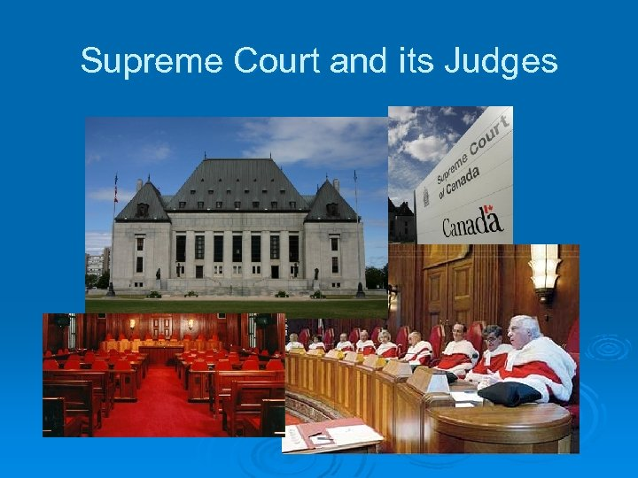 Supreme Court and its Judges