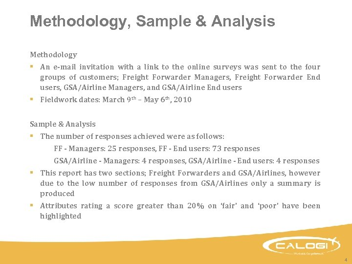 Methodology, Sample & Analysis Methodology § An e-mail invitation with a link to the