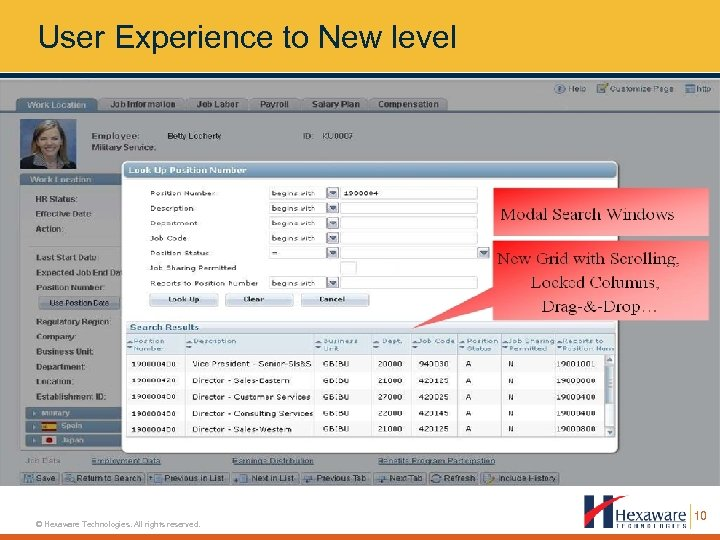 User Experience to New level © Hexaware Technologies. All rights reserved. 10