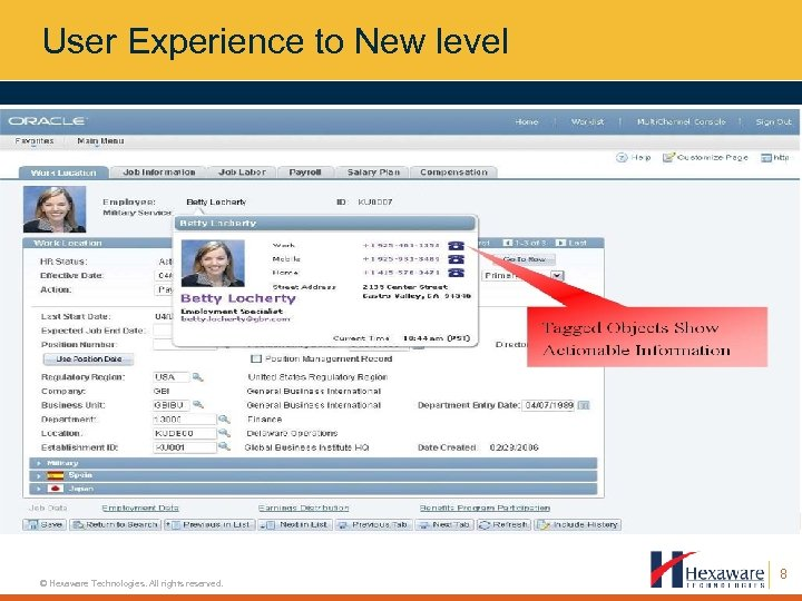 User Experience to New level © Hexaware Technologies. All rights reserved. 8