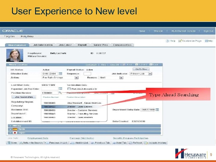 User Experience to New level © Hexaware Technologies. All rights reserved. 9
