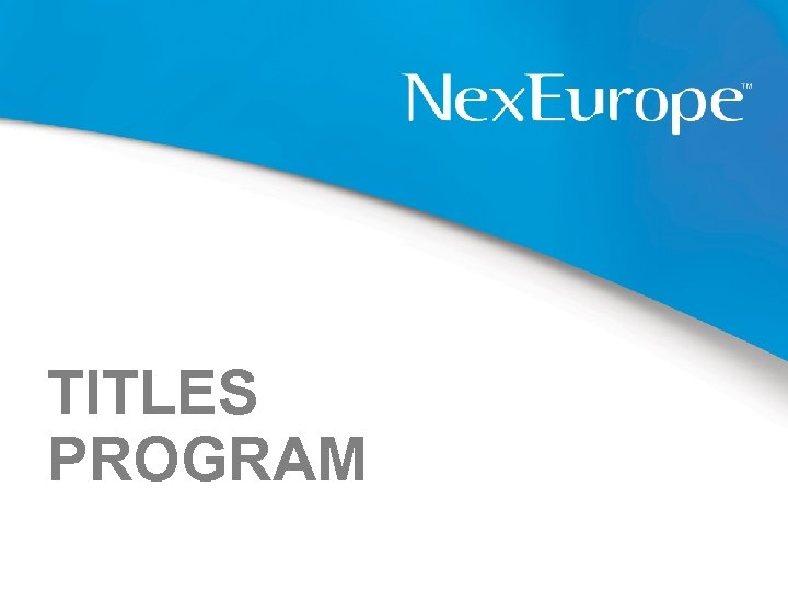 TITLES PROGRAM