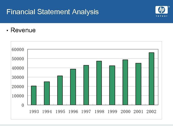 Financial Statement Analysis • Revenue