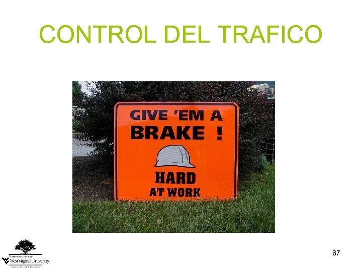 CONTROL DEL TRAFICO 87