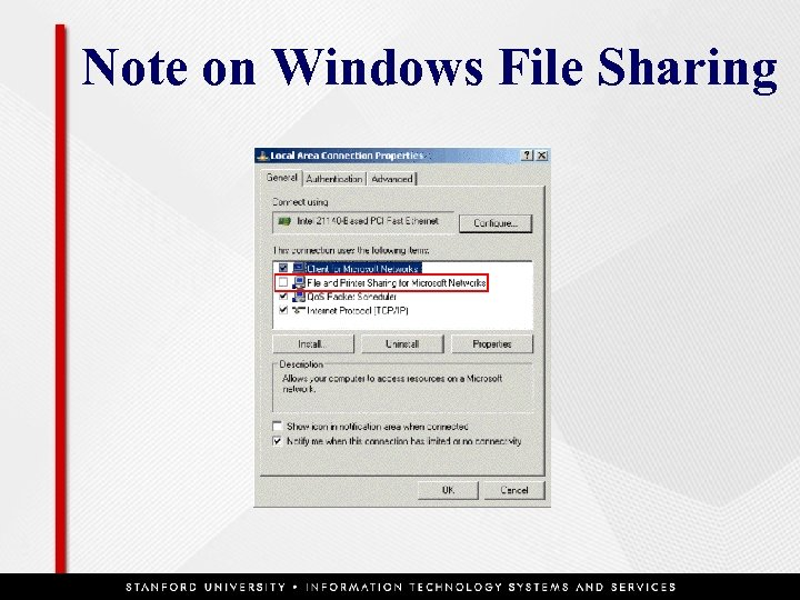 Note on Windows File Sharing