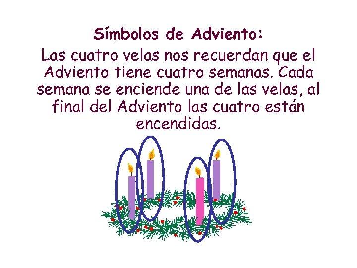 Símbolos de Adviento: Las cuatro velas nos recuerdan que el Adviento tiene cuatro semanas.