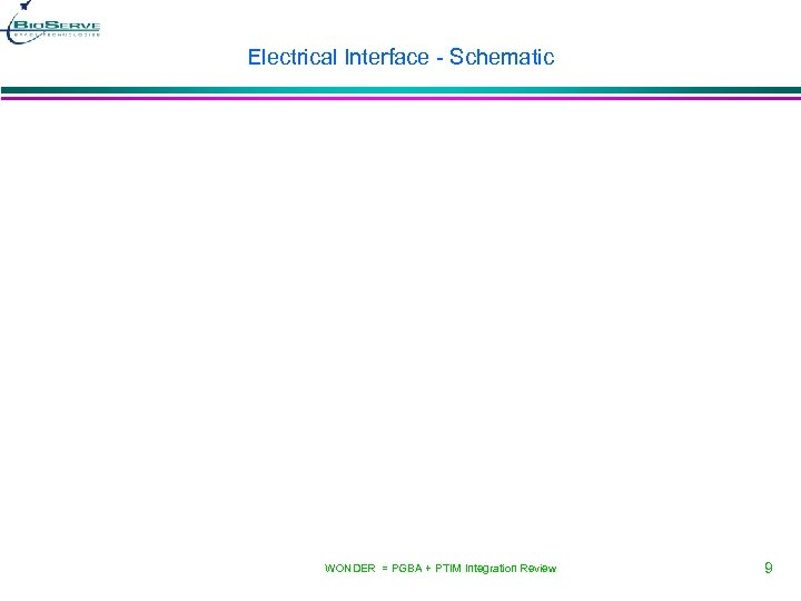 Electrical Interface - Schematic WONDER = PGBA + PTIM Integration Review 9