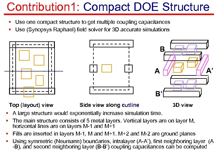 Contribution 1: Compact DOE Structure § Use one compact structure to get multiple coupling