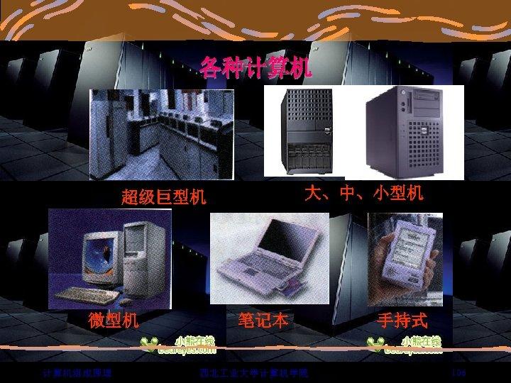 各种计算机 大、中、小型机 超级巨型机 微型机 计算机组成原理 笔记本 西北 业大学计算机学院 手持式 106