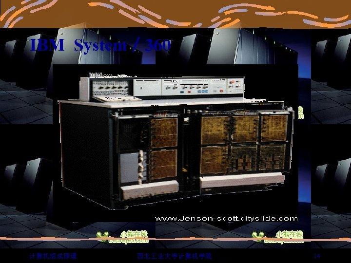 IBM System/ 360 计算机组成原理 西北 业大学计算机学院 14