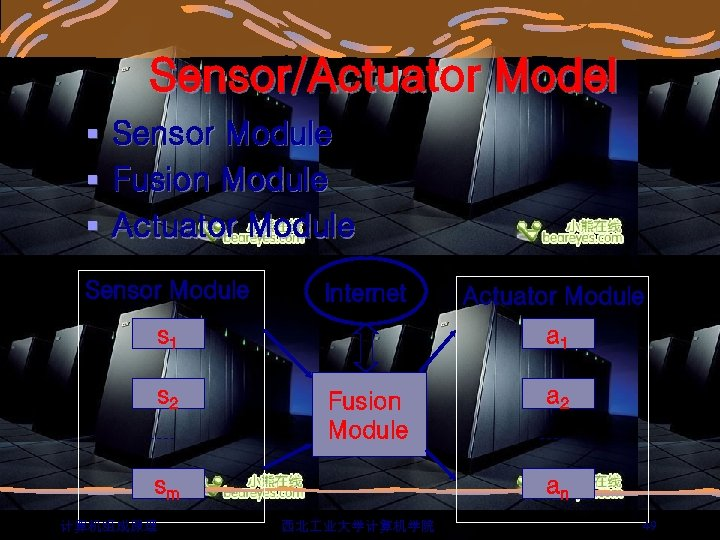 Sensor/Actuator Model § Sensor Module § Fusion Module § Actuator Module Sensor Module Internet