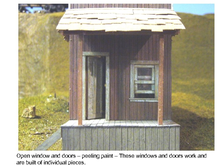 Open window and doors – peeling paint – These windows and doors work and