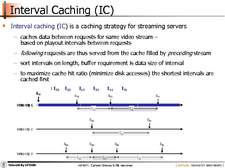 Interval Caching (IC) § Interval caching (IC) is a caching strategy for streaming servers