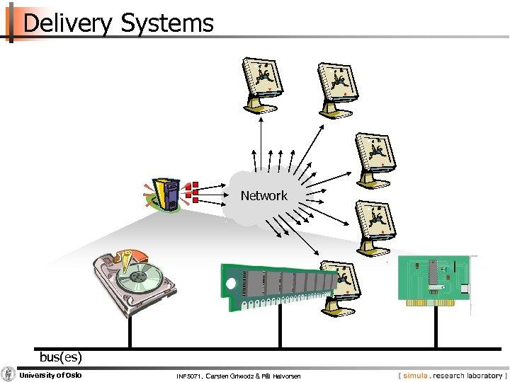 Delivery Systems Network bus(es) University of Oslo INF 5071, Carsten Griwodz & Pål Halvorsen