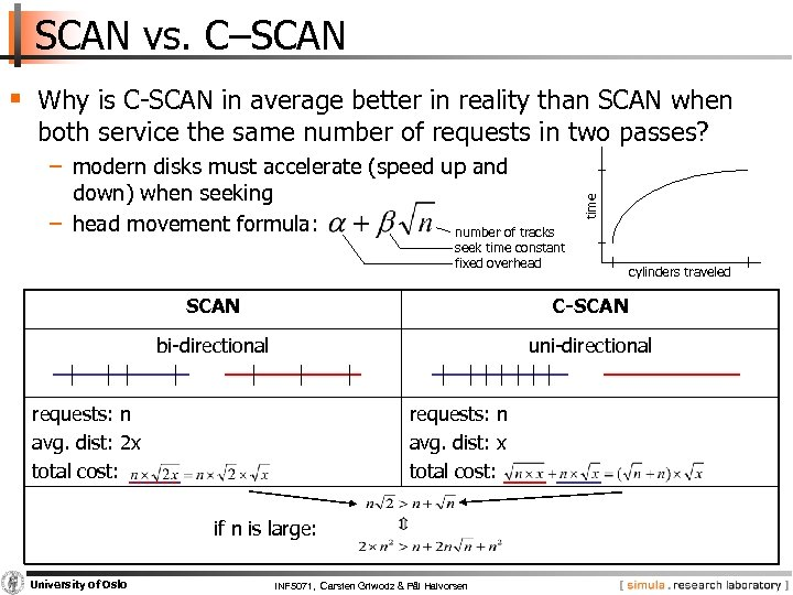 SCAN vs. C–SCAN § Why is C SCAN in average better in reality than