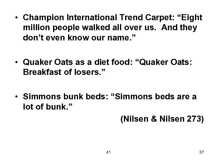 """• Champion International Trend Carpet: """"Eight million people walked all over us. And"""
