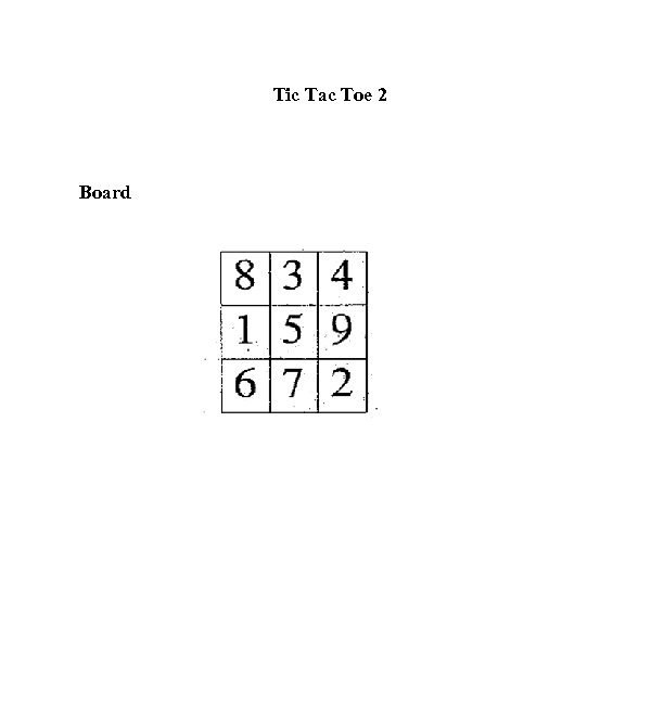 Tic Tac Toe 2 Board