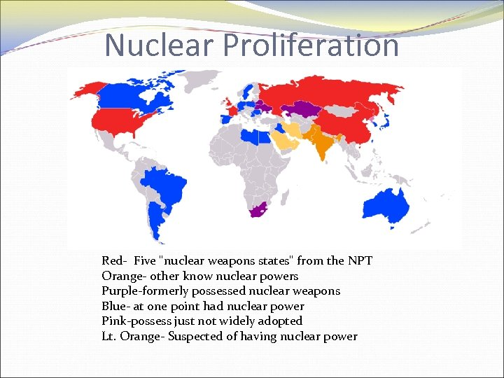 Nuclear Proliferation Red- Five