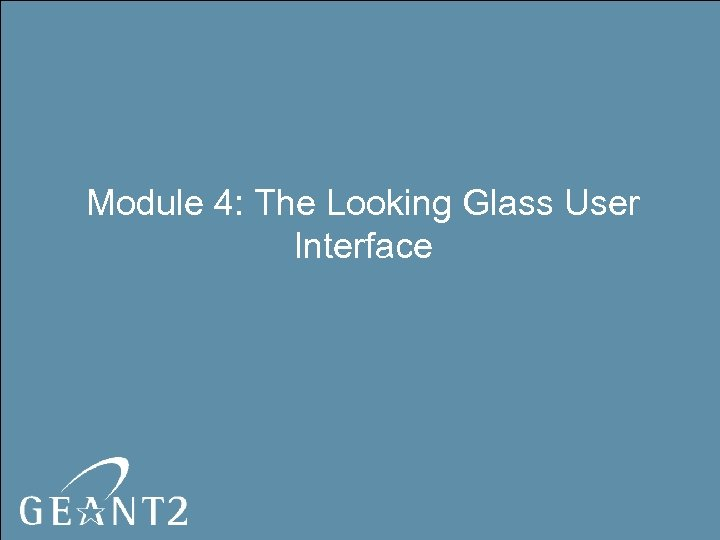 Module 4: The Looking Glass User Interface