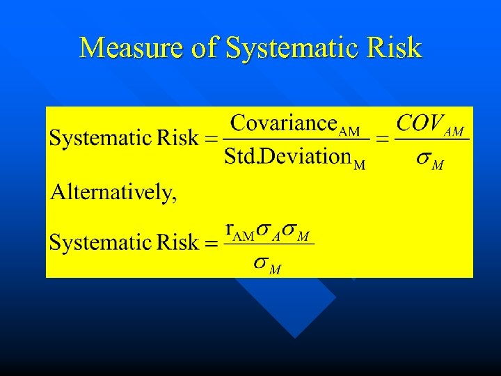 Measure of Systematic Risk
