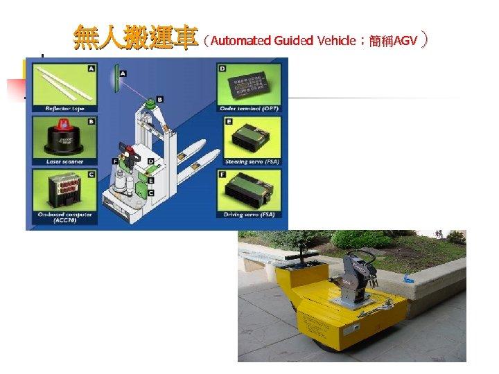 無人搬運車(Automated Guided Vehicle;簡稱AGV)