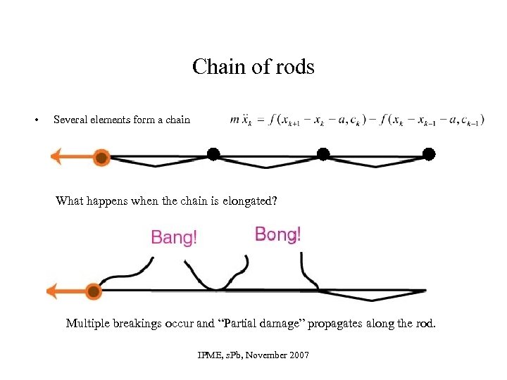 Chain of rods • Several elements form a chain What happens when the chain