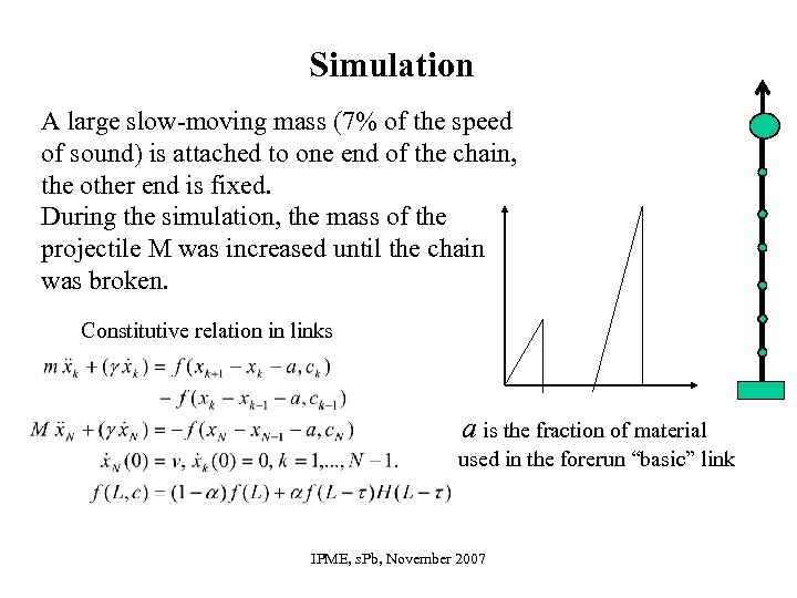 Simulation A large slow-moving mass (7% of the speed of sound) is attached to