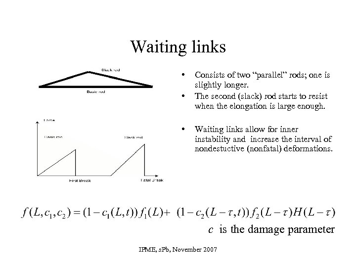 "Waiting links • • • Consists of two ""parallel"" rods; one is slightly longer."