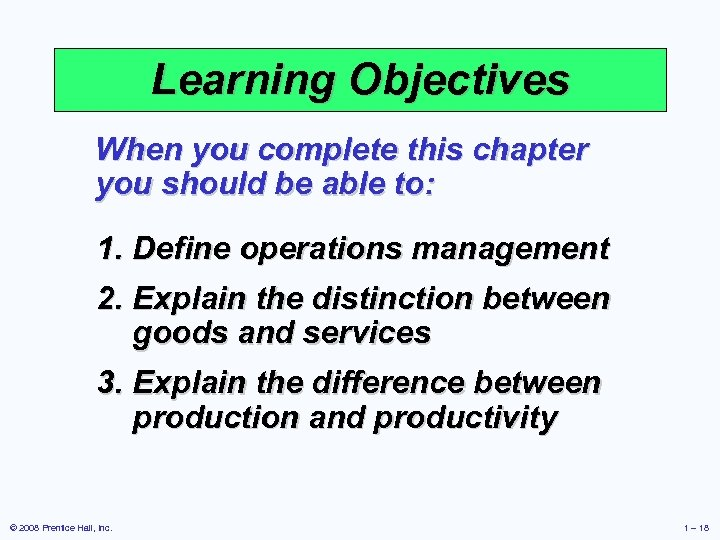 distinguish between production and operation management