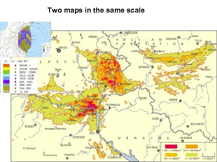 Two maps in the same scale