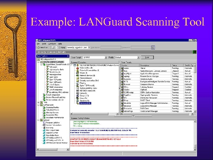 Example: LANGuard Scanning Tool
