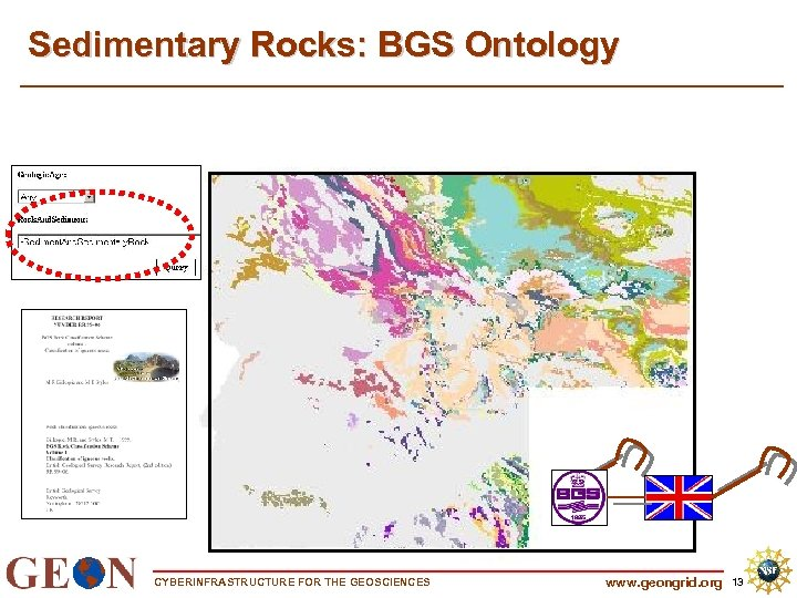 Sedimentary Rocks: BGS Ontology CYBERINFRASTRUCTURE FOR THE GEOSCIENCES www. geongrid. org 13