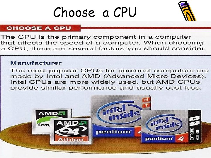 Choose a CPU