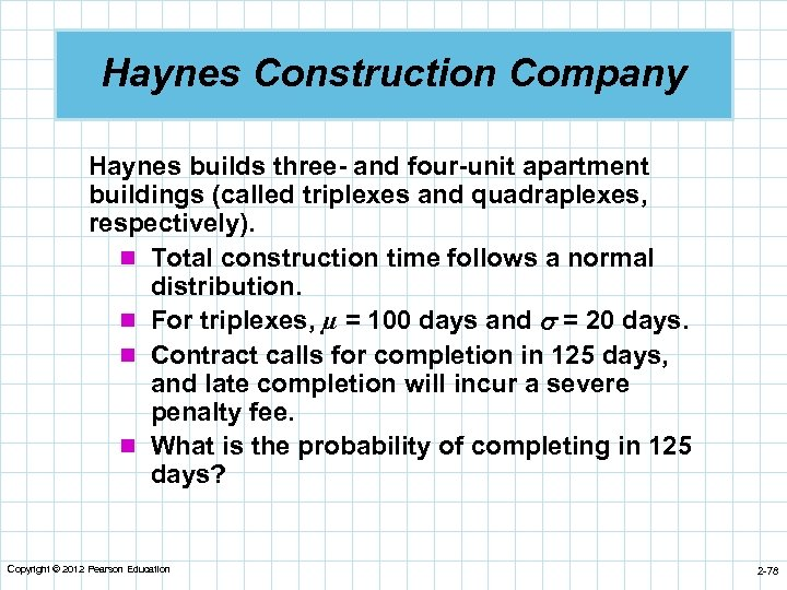 Haynes Construction Company Haynes builds three- and four-unit apartment buildings (called triplexes and quadraplexes,