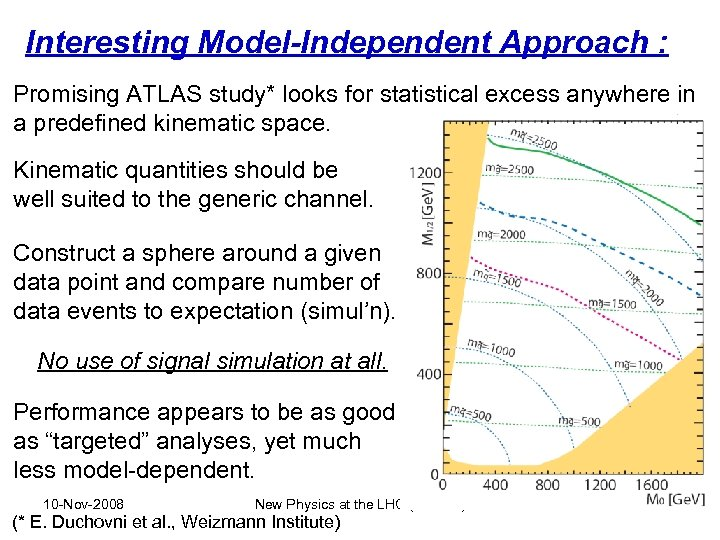 Interesting Model-Independent Approach : Promising ATLAS study* looks for statistical excess anywhere in a