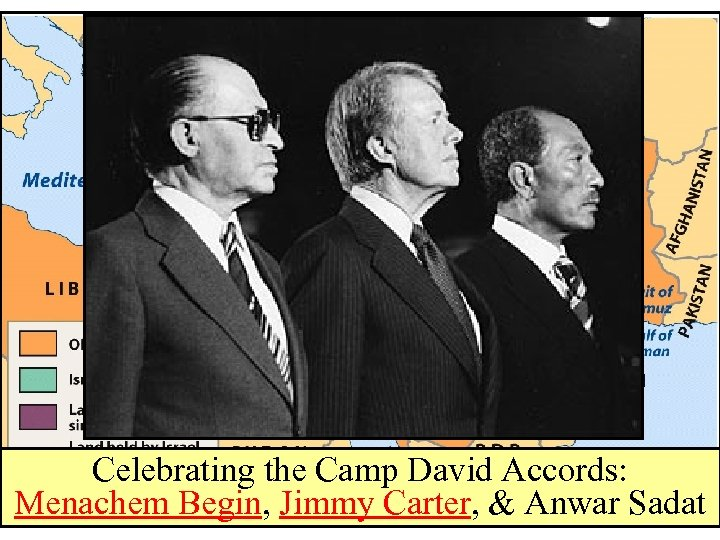 Celebrating the Camp David Accords: Menachem Begin, Jimmy Carter, & Anwar Sadat