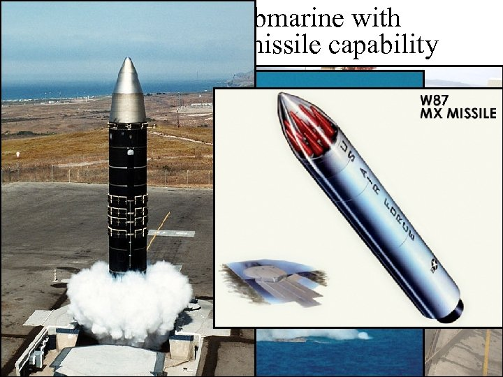 Ohio-class submarine with Trident nuclear missile capability